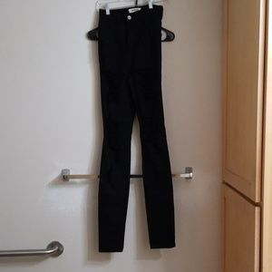 Extreme high rise jeans.